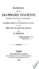 Eléments de la grammaire italienne