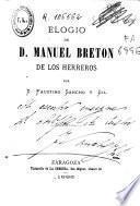 Elogio de D. Manuel Breton de los Herreros