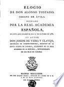 Elogio de Don Alonso Tostado