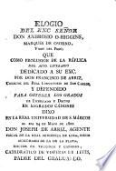 Elogio de son Ambros O'Higgins, marques de Orsono, virey del Peru