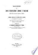 Elogio histórico de D. Fernando Amor y Mayor (muerto en la Expedición científica al Pacífico)