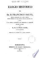 Elogio histórico del Dr. D. Francisco Salvá