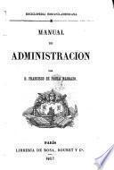 Enciclopedia Hispano-Americana. Manual de administracion