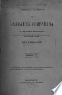 Ensayo crítico de gramática comparada de los idiomas indo-europeos: sanskrit, zend, latín, griego, antiguo eslavo, litauico, godo, antiguo alemán y armenio