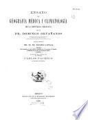 Ensayo de geografia medica y climatologia de la Republica mexicana