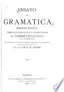 Ensayo de gramatica hispano-tagala