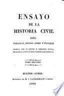 Ensayo de la historia civil del Paraguay, Buenos-Ayres y Tucuman