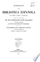Ensayo de una biblioteca española de libros raros y curiosos