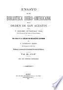 Ensayo de una biblioteca ibero-americana de la Orden de San Agustin: Ci-F