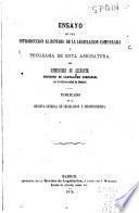 Ensayo de una introduccion al estudio de la legislacion comparada