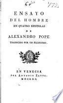 Ensayo del hombre en quatro epistolas