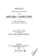 Ensayo histórico etimológico filológico sobre los apellidos castellanos