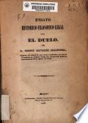 Ensayo histórico-filosófico-legal sobre el duelo