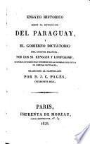 Ensayo histórico sobre la revolucion del Paraguay