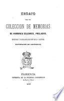 Ensayo para una colección de memorias de hombres célebres, prelados, escritores y sujetos notables en virtud y doctrina naturales de Guipuzcoa