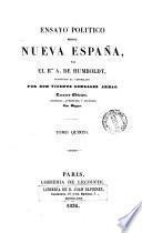 Ensayo politico sobre Nueva España