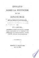 Ensayo sobre la distincion de los sinonimos de la lengua Castellana