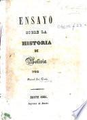 Ensayo sobre la historia de Bolivia