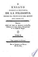 Ensayo sobre la historia de la filosofia