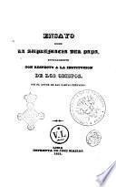 Ensayo sobre la supremacía del Papa especialmente con respecto a la institución de los obispos por el d.d. José Ignacio Moreno