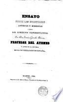 Ensayo sobre las Sociedades Antiguas y Modernas y sobre los Gobiernos Representativos