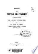 Ensayo sobre poemas provenzales de los siglos XII y XIII