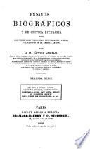Ensayos Biograficos y de Critica Literaria