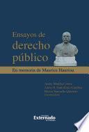 Ensayos de derecho público. En memoria de Maurice Haurior