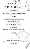 Ensayos de moral: (1800. 359 p.)