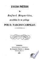 Ensayos poéticos de Rafael Magariño