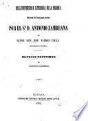 Entrega del rectorado hecha por el Sr. D. Antonio Zambrana al señor Don Josè Valdes Fauli diciembre 21 de 1861