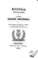 Epistola gratulatoria a la heroica Nacion Española