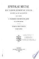 Epistolae mixtae: 1549-1552