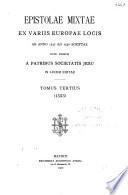 Epistolae mixtae: 1553