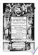 Epistolario espiritual para personas de diferentes estados