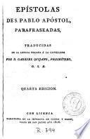 Epístolas de S. Pablo apóstol parafraseadas