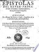 Epistolas. Publicadas por M. de Faria y Sousa