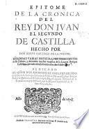 Epitome de la cronica del Rey Don Iuan el Segundo de Castilla