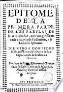 Epitome de la primera parte de las fabulas de la antiguedad