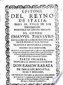 Epitome del Reyno de Italia baxo el yugo de los barbaros