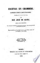 Escenas en Chamberi. Capricho-comico-liricobailable; musica de los maestros Joaquin Gaztambide (etc.)