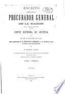 Escrito presentado por el C. procurador general de la nacion
