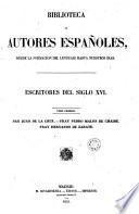 Escritores del siglo XVI, 1 (Biblioteca Autores Españoles, 27)