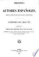 Escritores del siglo XVI