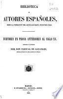 Escritores en prosa anteriores al siglo XV