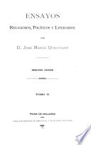 Escritos políticos; primer periodo, 1843-1846