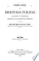 Escrituras públicas.-Actuaciones
