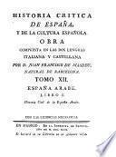 España Arabe ; Libro I: Historia civil de la España Arabe