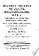 España Arabe ; Libro II: Religion, gobierno y cultura de la España Arabe