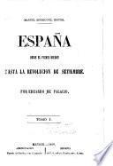España desde el primer Borbon hasta la revolución de setiembre